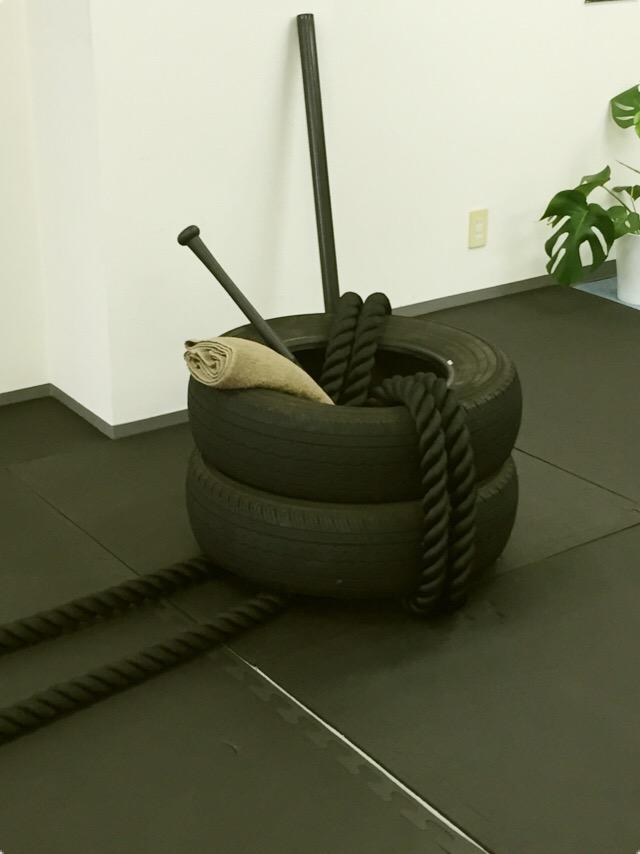 タイヤを使ったトレーニング1
