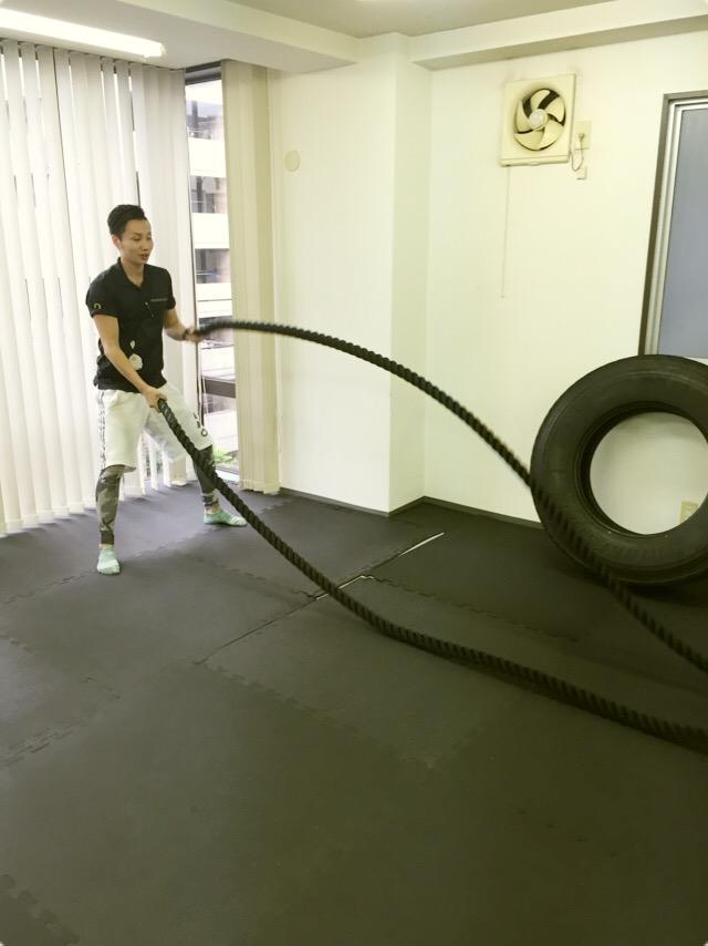 タイヤを使ったトレーニング3