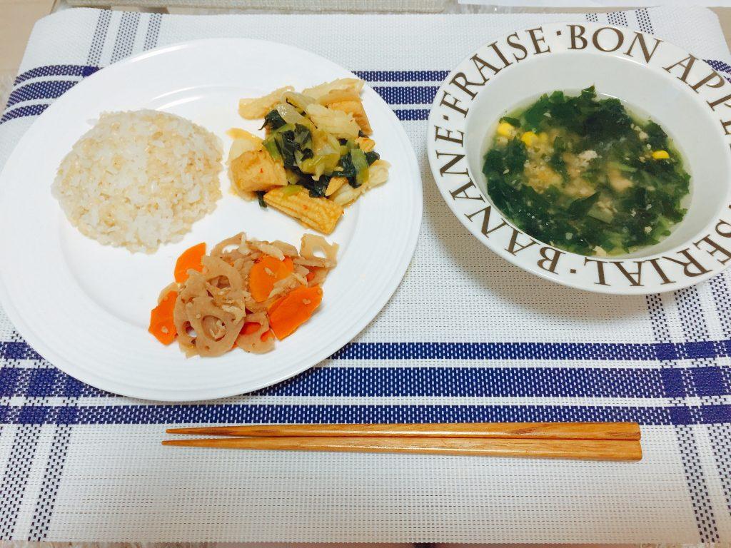 いかと厚揚げの野菜炒め煮セット