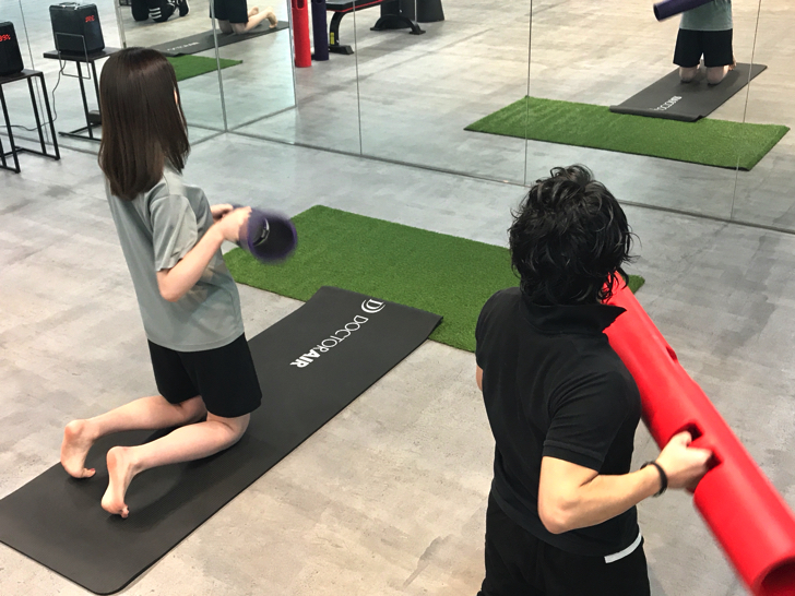 FiNCジムトレーニング体験の様子