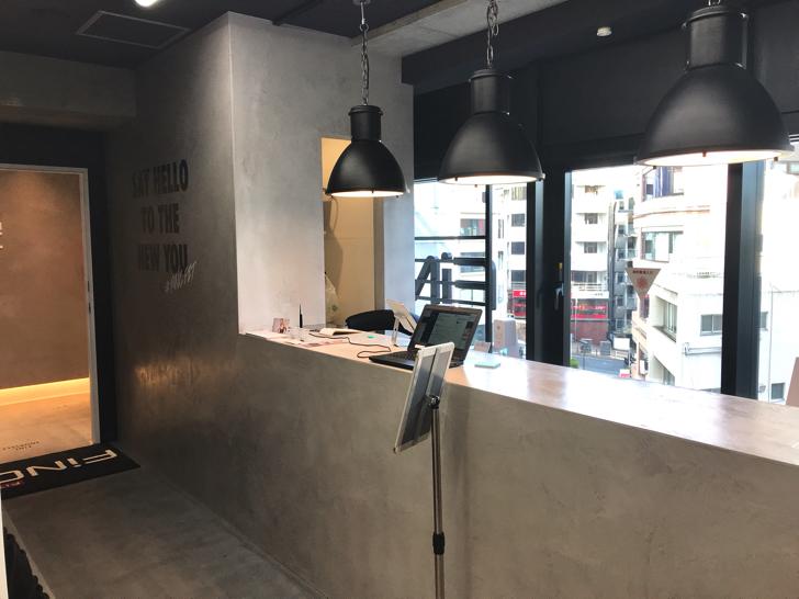 FiNC六本木店カウンター