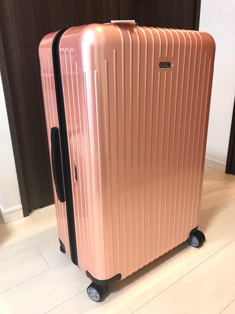 リモワのパールローズスーツケース84L